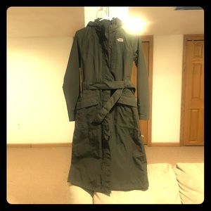 The North Face hooded trench coat